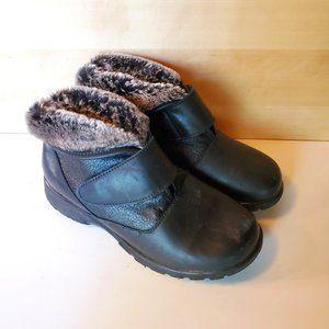 Toe Warmers Secure Velcro Fur Lined Ankle Folding Collar Waterproof Winter Boots